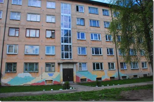 Newly-painted Apartment block in Paldiski, Estonia