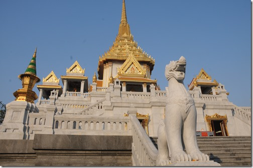Wat Traimit, home of the Golden Buddha, in Bangkok, Thailand