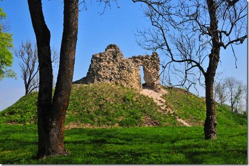 Ruins of Lihula Castle in Estonia