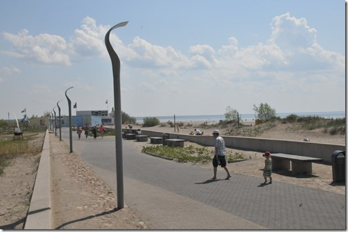 Beach boardwalk in Pärnu, Estonia