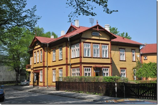 Colorful house in Pärnu, Estonia